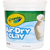 Crayola Air Dry Clay, Natural White Modeling Clay, 5 Lb Bucket