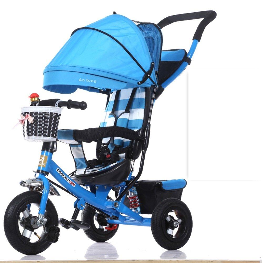 注目ブランド 乳母車 子供の三輪車の折り畳み式のベビーキャリッジベビーバイク 使いやすい (色 青) : 青) 乳母車 青 (色 B07HQHWLV8, ホームセンター通販 くろがねの森:a845219c --- a0267596.xsph.ru