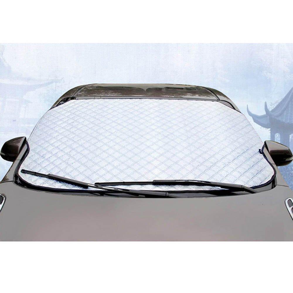 Coche Parabrisas Nieve, FOME película de aluminio y algodón funda de tela de soporte Universal para Parabrisas Limpiaparabrisas de cubierta de hielo nieve ...