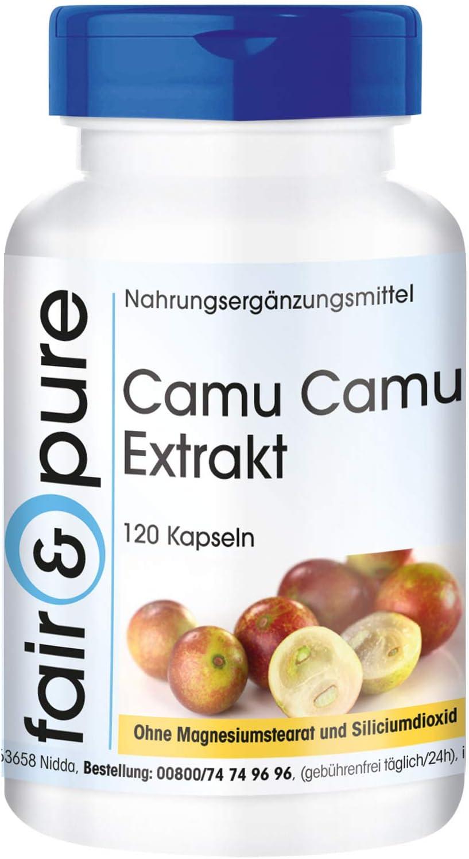 Camu-Camu en Cápsulas - Vitamina C natural - Extracto de Camu-Camu 500mg - Vegano - Alta pureza - 120 Cápsulas