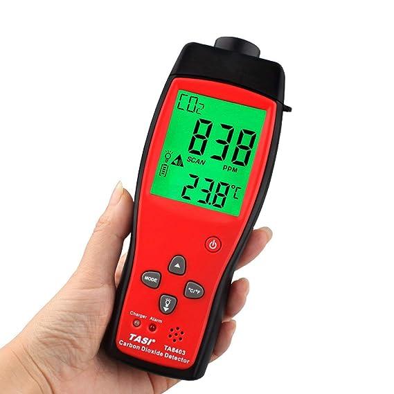 Probador del Monitor del CO2 del analizador del Detector del CO2 del Metro del dióxido de Carbono TA8403: Amazon.es: Bricolaje y herramientas