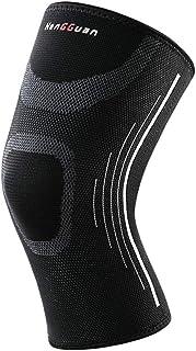 MFHYSJ 2 genouillères antidérapantes pour Les Hommes et Les Femmes Qui courent Le Basket-Ball Fitness avec des genouillères accroupies, L (40-46cm