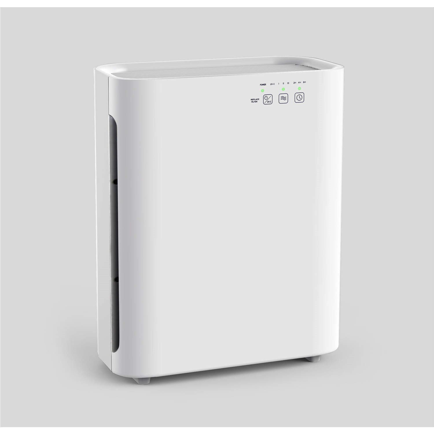 electriQ 6 Stage Air Purifier Cleans Air True HEPA Filter, UV, Ioniser -  Rooms up to 40m2 - Home Air Cleaner, Removes Allergens, Dust, Smoke, ...