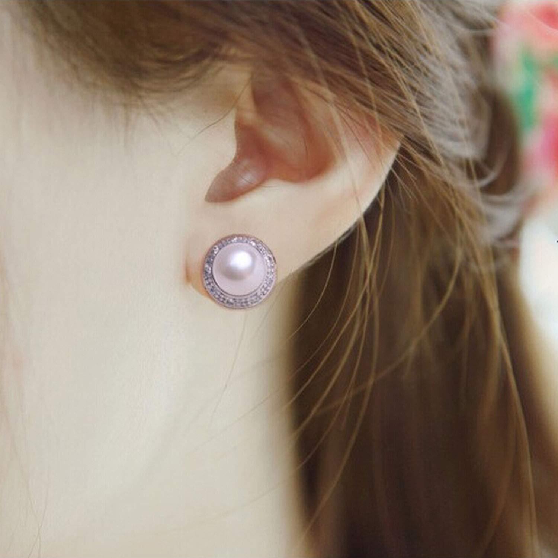 New Pearl Earrings Silver Vintage Stud Earring