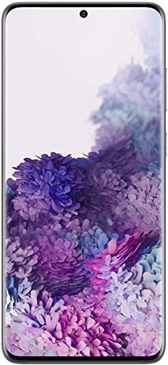 Samsung Galaxy S20+ Plus 5G Factory Unlocked New Android Cell Phone US Version | 128GB of Storage | Fingerprint ID and Facial Recognition | Long-Lasting Battery | US Warranty |Cosmic Gray (Renewed)
