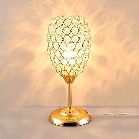 Amazon.com: Lámpara de mesa de cristal con cristales ...
