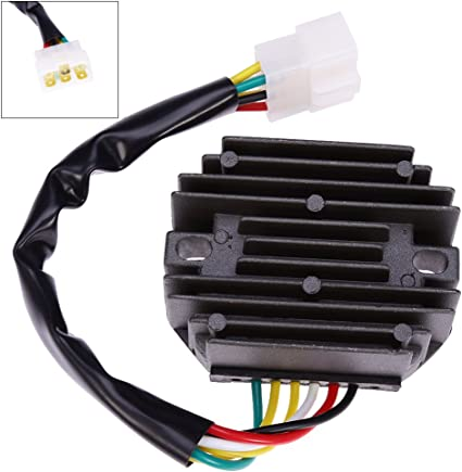 Voltage Regulator Rectifier Replacement 435-180 for JOHN DEERE 240 245 265 Lawn Tractor 345 F525 F735 Gx345 Lx176 X495 X575 X700 X720 Cs Cx Ts Gator AM108848 AM126304 M70121 M97348 14029