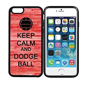 iPhone 6 (4.7 inch display) RCGrafix Keep Calm And Dodge Ball 4 - Designer BLACK Case - Fits Apple iPhone 6- Protected Cell Phone Cover PLUS Bonus Iphone Apps Business Productivity Review Guide