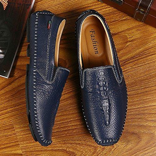 Cuir Driving Hommes Blue Chaussures Peas Mocassins Koyi Formel Men's Respirant Mode Casual en Chaussures 0qwpSZ