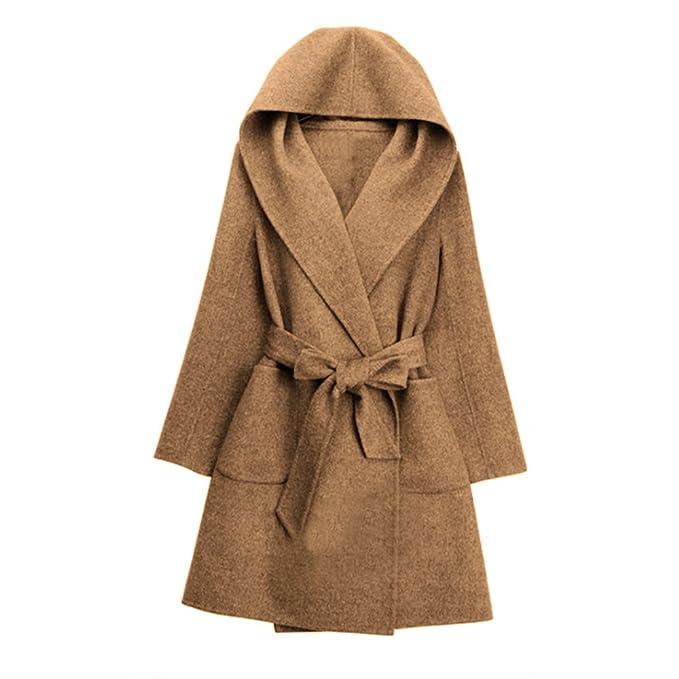 ZAFUL - Abrigo - Gabardina - para Mujer marrón L: Amazon.es: Ropa y accesorios