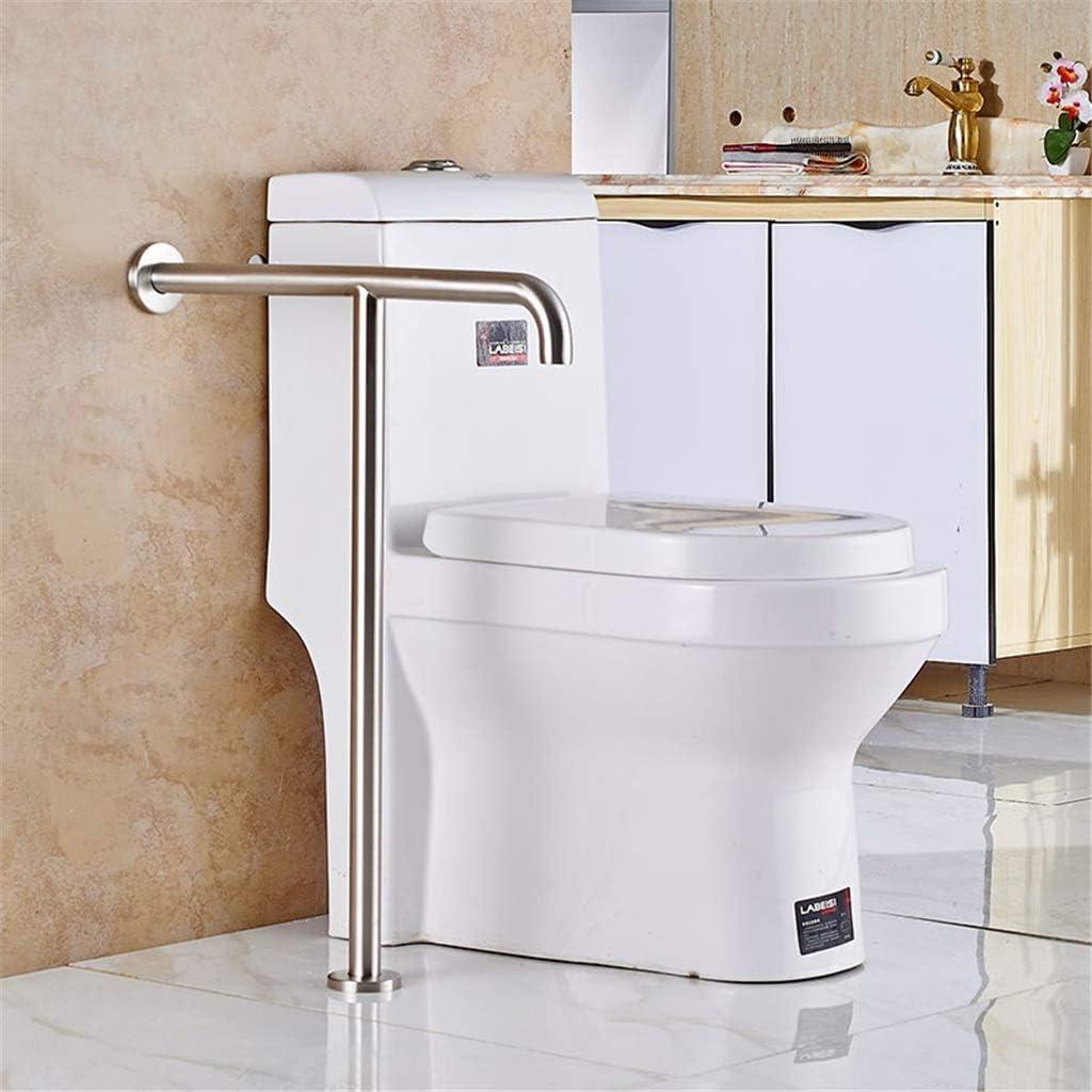 Echotang Toilet Handrail Non-Slip Stainless Steel Handrail Bathroom Safety Rail Grab Bar Support Frame for Pregnant, Elderly, Disabled Use