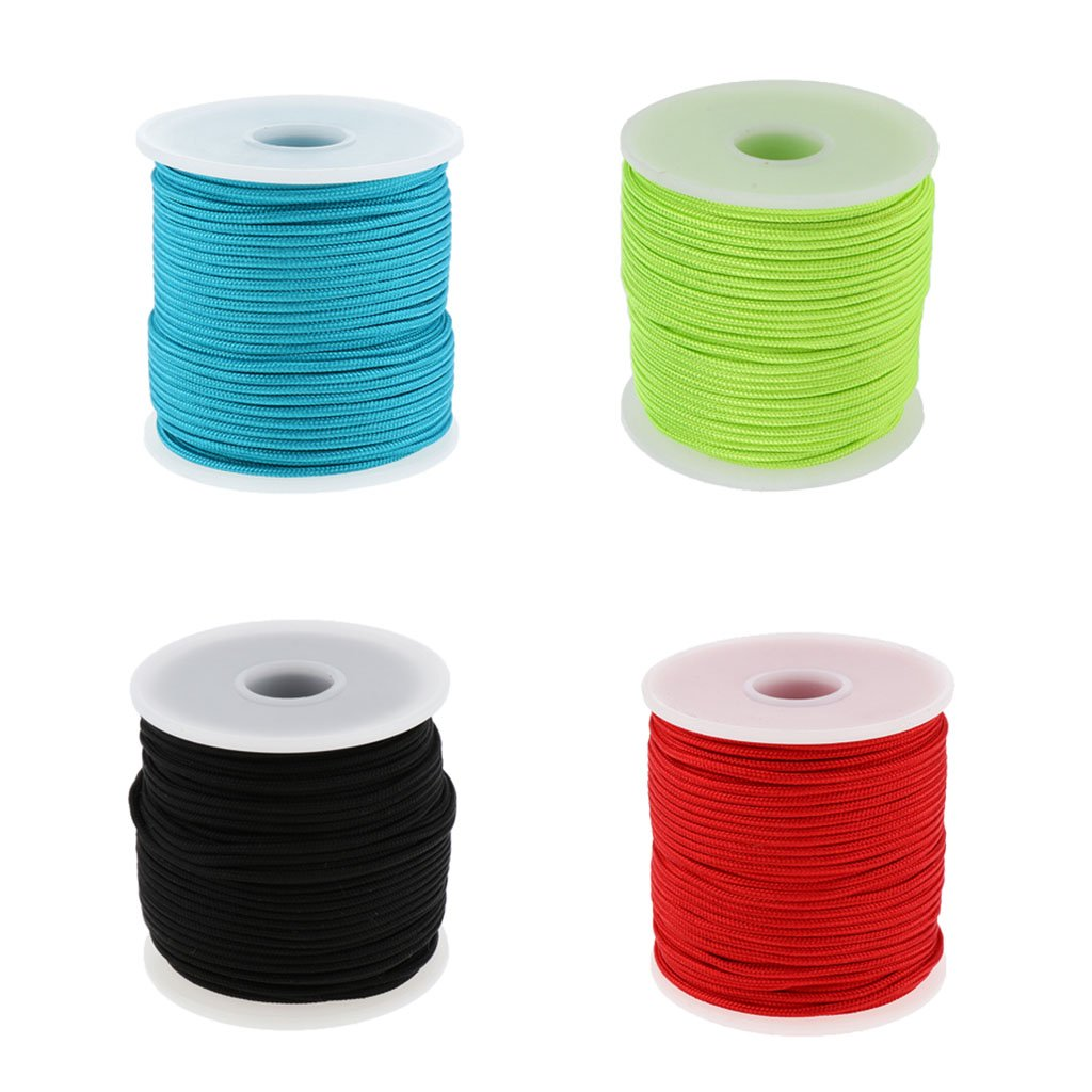 Backpacking T TOOYFUL 2mmx50m Nylon Parachute Rope High Strength Camping Cord Paracord for Tie-Downs 6-Core Guyline Tent Ropes Survival