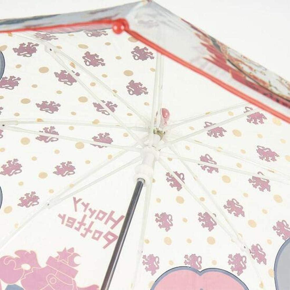 CERD/Á LIFES LITTLE MOMENTS- Paraguas Transparente de Harry Potter Color 2400000551 Licencia Oficial Warner Bros