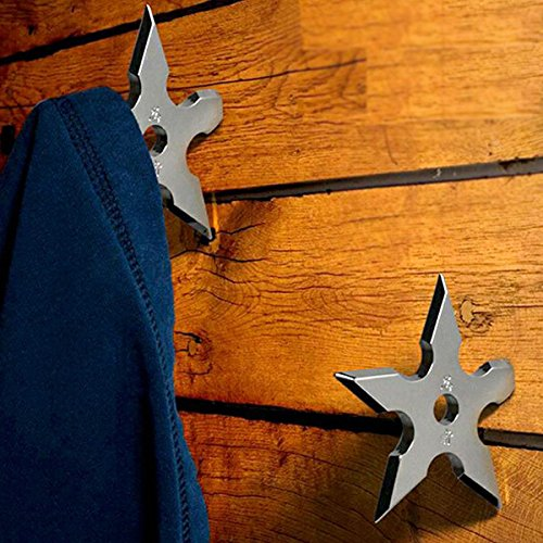 Ninja Shuriken Ninja Coat Hook Star Coat Home Decoration [ 1 Packs] (Set Real Ninja)