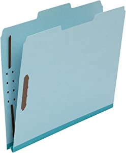 AmazonBasics Pressboard Fastener Folder - 100% Recycled, 1/3 Tab, 1