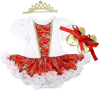 FYMNSI Bebé Niña Mi Primera Navidad Vestido Árbol de Navidad ...