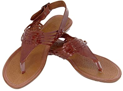 f89e13782ed7 Women s Genuine Leather Mexican Huaraches Buckle Woven Sandals  237 5  Chedron