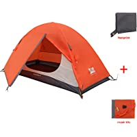 MIS MOUNTAIN INN SPORTS 1 Person Tent,Portable Backpacking Tent with Footprint,Double Layer Waterproof Outdoor Tent…
