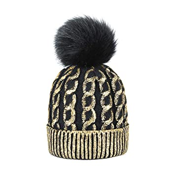 erghj Moda Sombrero De Invierno Gorros Sombrero De Invierno Cálido ...