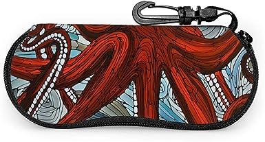 Octopus Gafas de sol Estuche blando Cremallera Estuche para gafas Estuche protector con clip para cinturón: Amazon.es: Ropa y accesorios