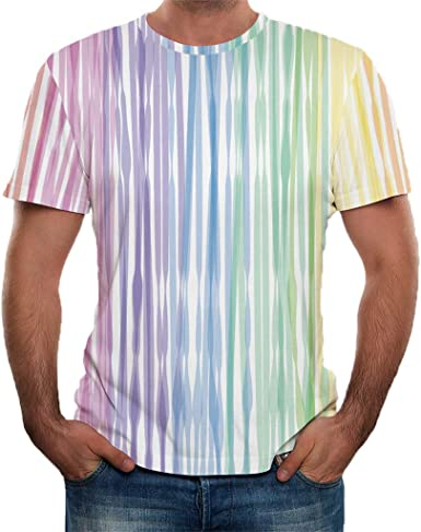 Shirt for Men F/_Gotal Mens T-Shirts Fashion Summer Short Sleeve Cool Printed Loose Casual Sport Tee Blouse Tops