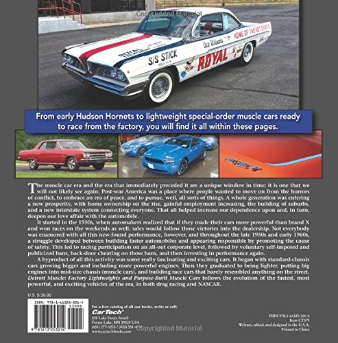 Detroit muscle factory lightweights and purpose built muscle cars detroit muscle factory lightweights and purpose built muscle cars charles morris 9781613253014 amazon books fandeluxe