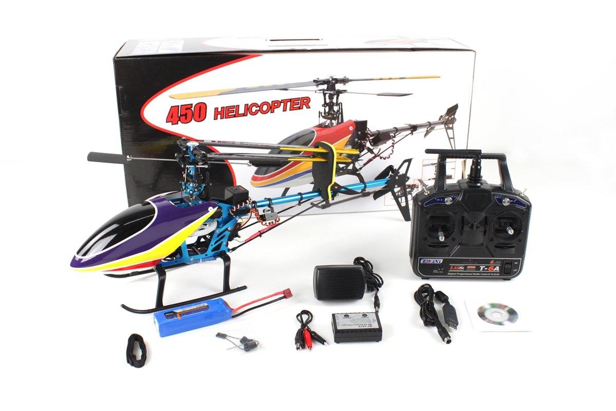 Elicottero 450 : Rc hausler 450 p 2.4 ghz 6 canali 3d xxl rtf elicottero rc brushless
