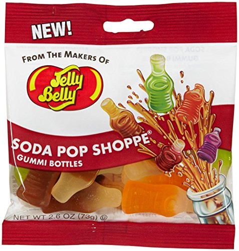 Jelly Belly Soda Pop Shoppe Gummi Bottles - 2.6 oz. - 12 Pack (Soda Pops Candy compare prices)