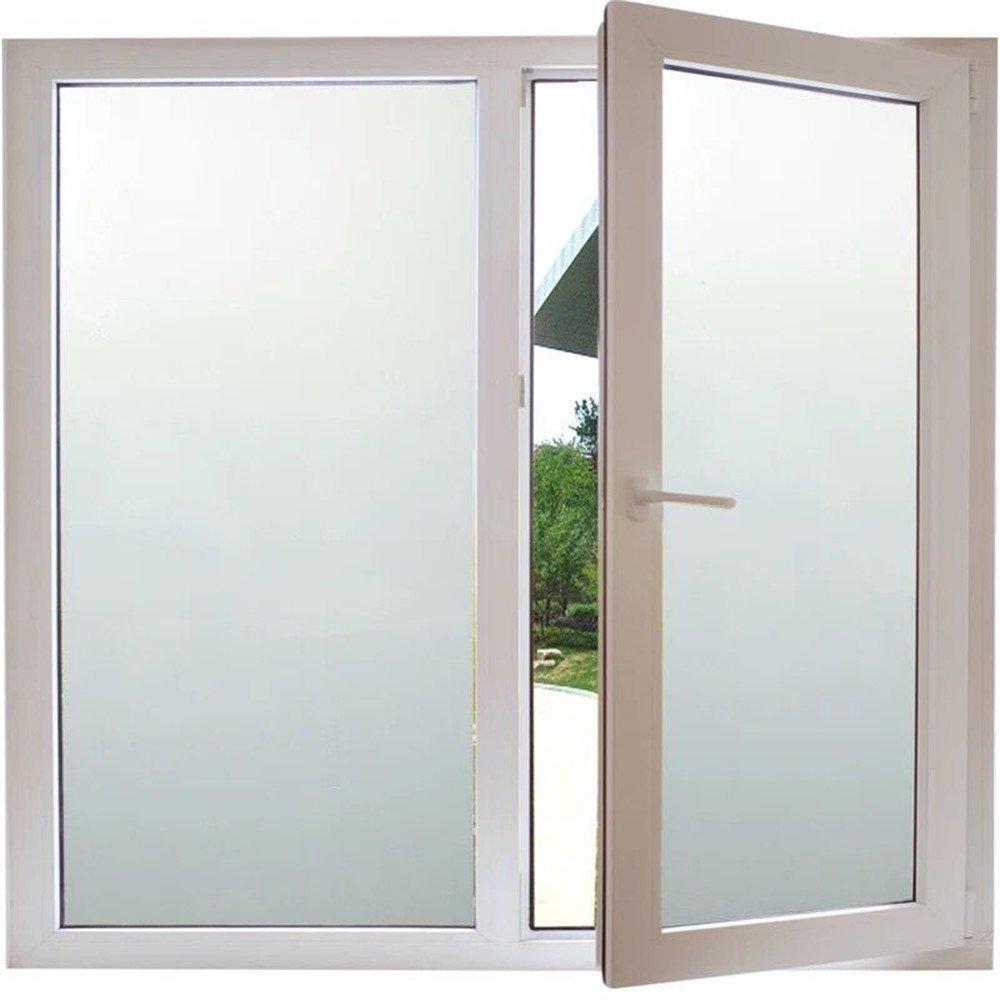 ostepdecorマルチサイズホワイト不透明Static ClingプライバシーFrosted Window Films forホームバスルームオフィス会議&リビングルーム、35.4