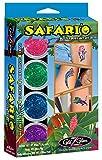 Safari'o Glitter Tattoo Kit - Safari, Zoo & Jungle Animals Body Art - HYPOALLERGENIC and DERMATOLOGIST TESTED!