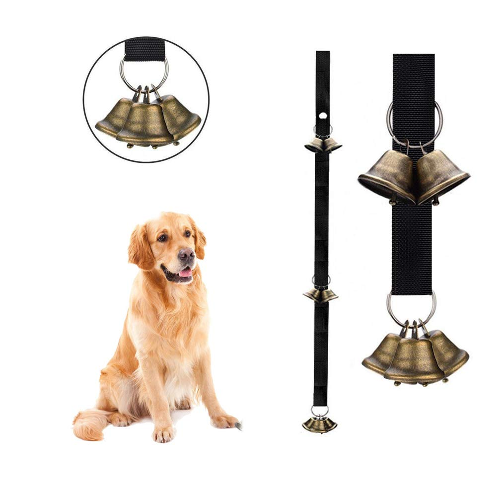 WYYZSS Pet doorbell Rope,/Christmas Copper Bell/Guide Dog doorbell Pendant for Potty Training Dog Bells for Door Potty Bells and Housebreaking Your Doggy,B,2PCS