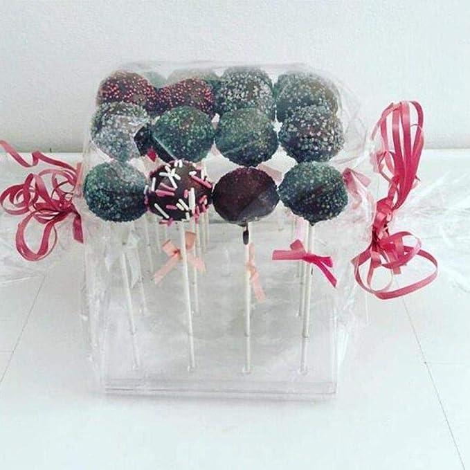 Szseven Cake Pop Stand Rotating Cake Stand 20 Agujeros Cake Pop Lollipop Stand Lollipop Holder Display Holder Bases Estante Cake Cake DIY Herramientas para Hornear