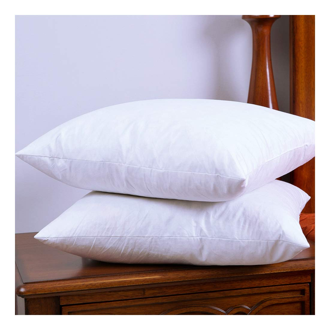 DOWNIGHT 12 X 20 Inches, Two Down and Feather Pillow Inserts, Cotton Fabric Throw Pillows