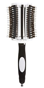 Olivia Garden ThermoActive Ionic Boar Combo Vented Thermal Round Hair Brush TA-CO65 (3 1/2