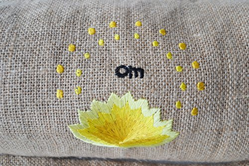 Om Embroidery Amore Sling Exercise Natural With Accessories Beaute In Backpack Lotus Bag And Jute Bags Mat Gift Totes Yoga Handcrafted Burla qr8cwqAz