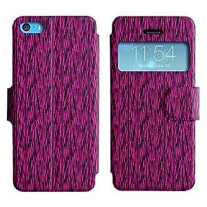 FlareStar Colour Printing cute pattern Voltear PU Funda de cuero caso para Apple iPhone 5C
