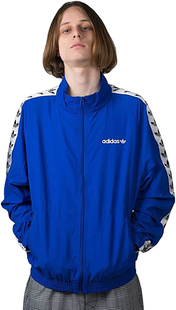 sociedad Reanimar búnker  Adidas TNT Wind Top Track Jacket CE4826 Blue White: Amazon.it: Abbigliamento