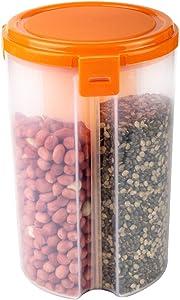 IndiaBigShop 3 in 1 Transparent Air Tight Kitchen Jars Storage Box for Food, Grain, Cereals Dispenser Storage Container Jar Kitchen Storage Box, Dry Fruit Storage Box, Spice Jars - 50 oz