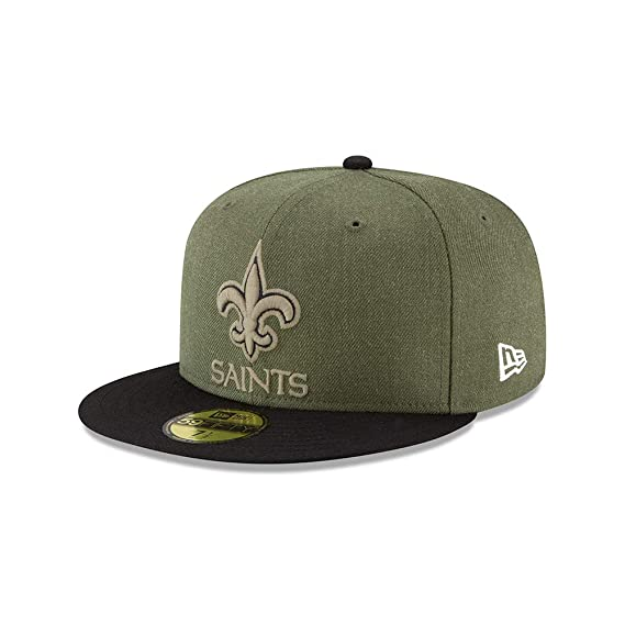 583343ffe New Era New Orleans Saints 59fifty Basecap On Field 2018 Salute to Service  Green - 7
