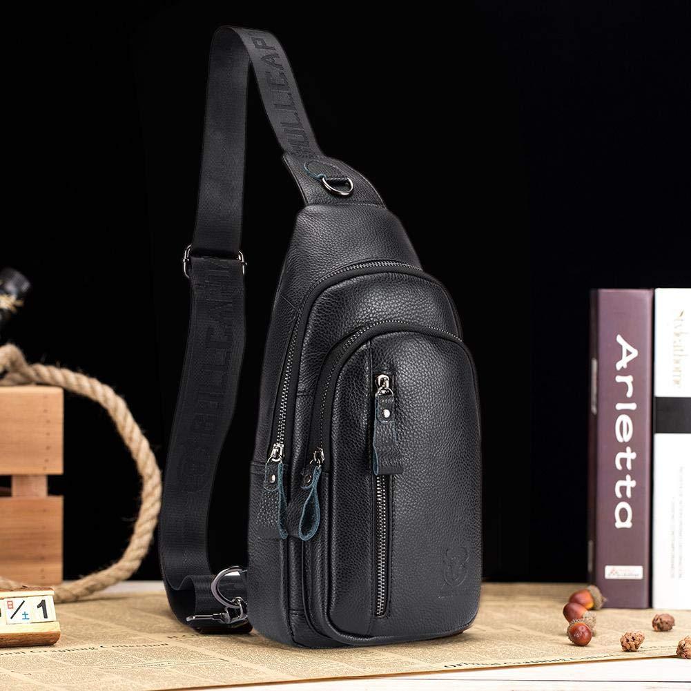 Tuankay Bull Captain Men Shoulder Bags Sport Crossbody Bag Waist Chest Pack Coffee