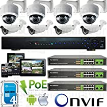 USG 8 Camera Security System 1080P PoE IP CCTV Kit * 1x 24 Channel NVR + 8x 1080P Sony DSP 2.8-12mm PoE IP Dome & Bullet Cameras + 3x Gigabit 10 Port PoE Network Switch + 1x 4TB HD * Apple Android App