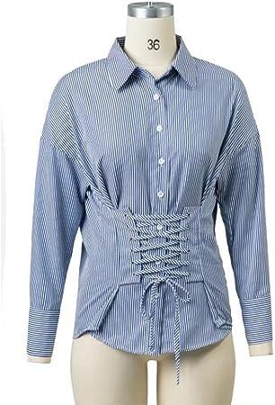 Cnsdy Camisas para Mujeres Camisas con Cuello en Cintura ...