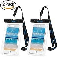 Mpow 2 Unidades Funda Impermeable de iPhone 6s 6 5s Huawei P8 Lite Bq aquaris x5 Xiaomi, Bolsa IPX8 Certificado Impermeable Transparent, Funda Playa para Movil Universal de 6 Pulgadas