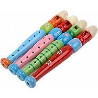 Gosear Instrumentos Musicales de Madera Ligero Lindo Flauta de Madera Juguetes para Niños