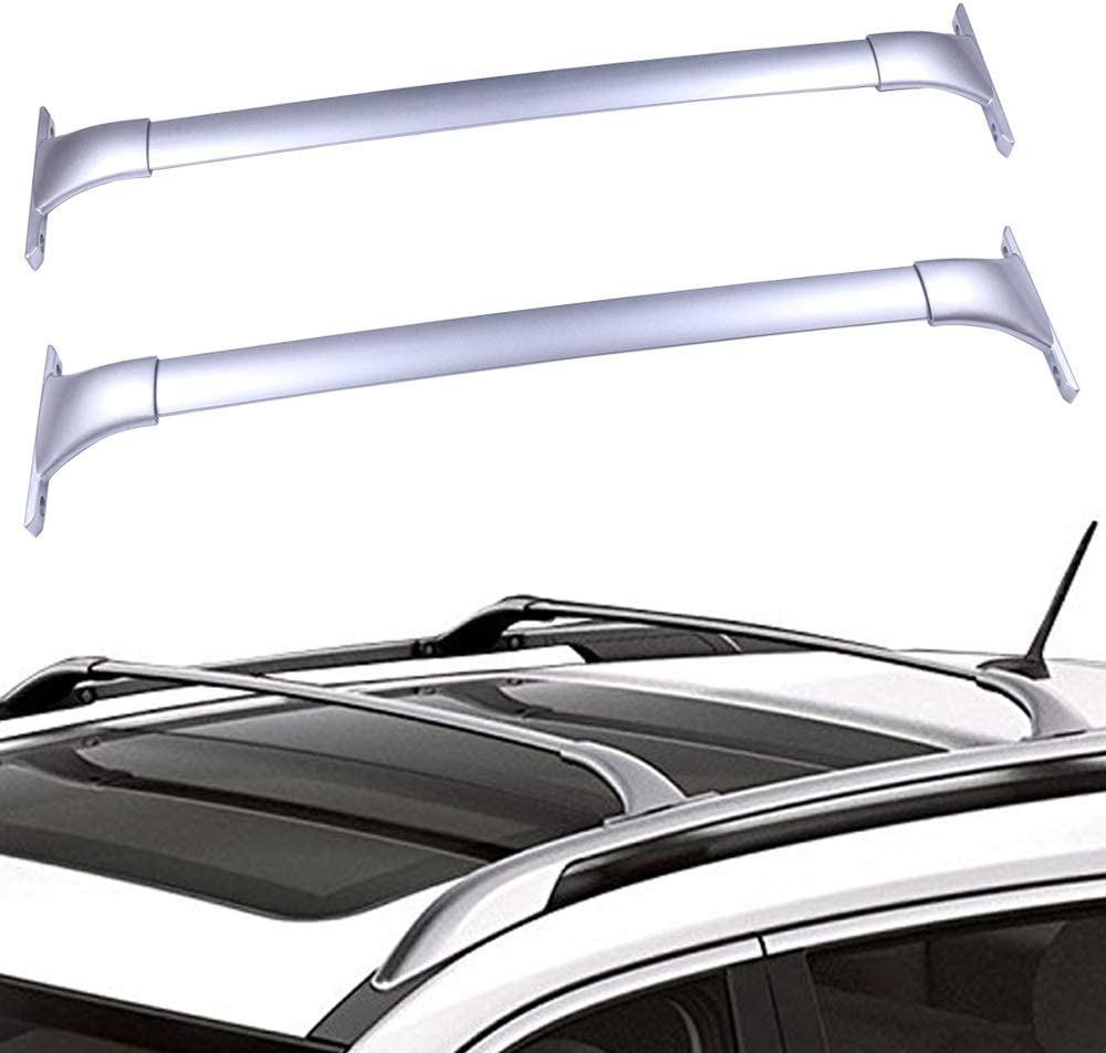 Scitoo Roof Rack Cross Bars Baggage Carrier For Nissan Rogue 2014-2019 Silver 2 Pcs Roof Top Rack Luggage Carrier
