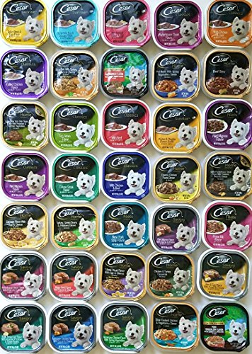 Cesar Mega Variety Pack of 35 Different Flavors Dog Food Sum