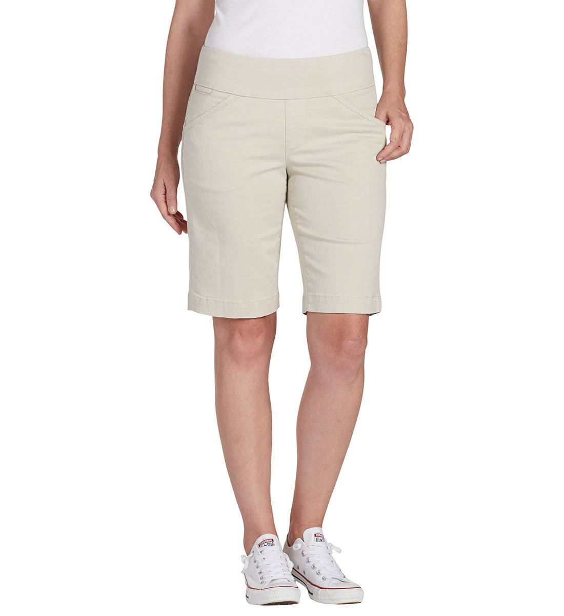 Jag Jeans Women's Ainsley Pull on Bermuda Short, Stone, 10