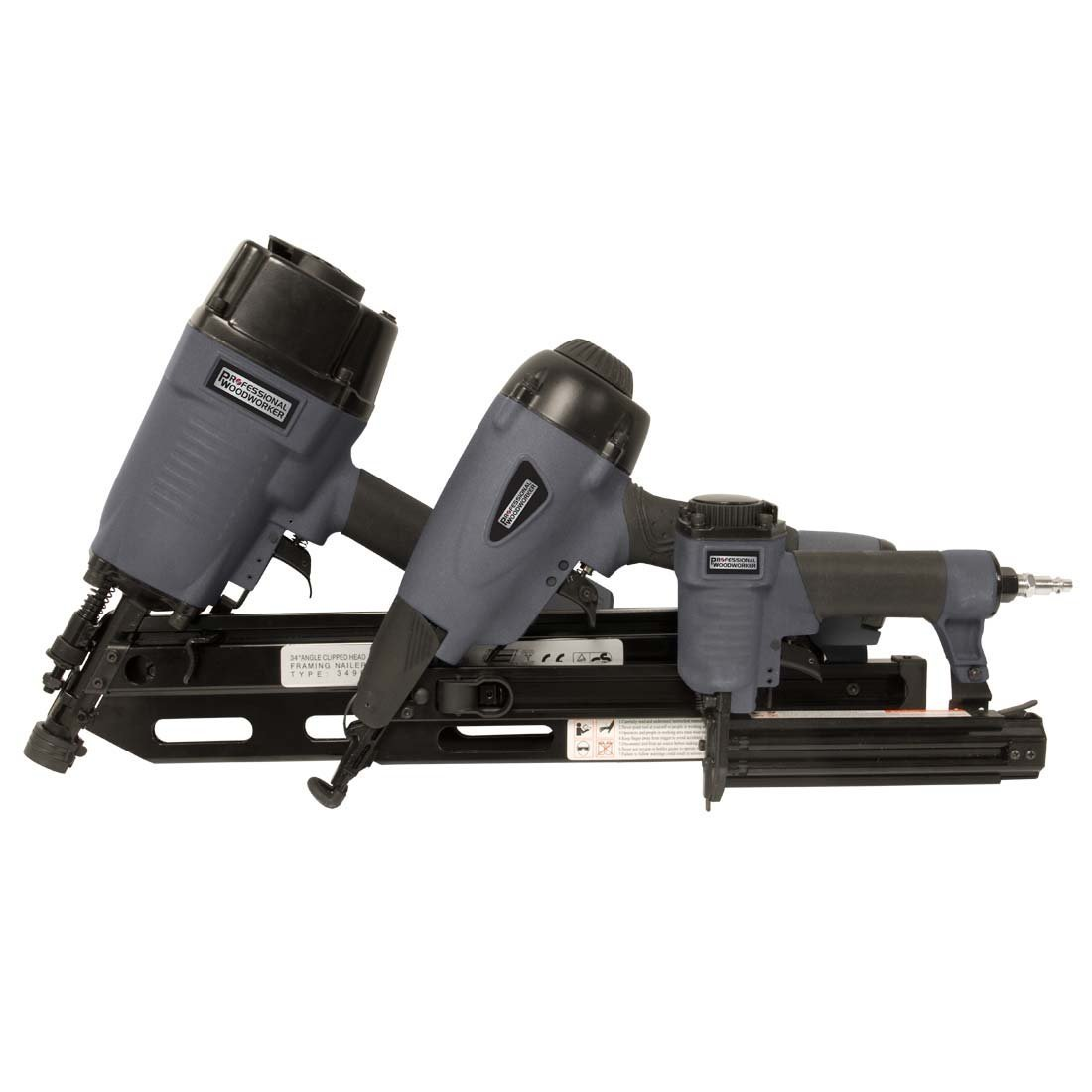 Professional Woodworker 7613 3 Piece Pneumatic Nailer Combo Kit
