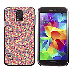 A-type Arte & diseño plástico duro Fundas Cover Cubre Hard Case Cover para Samsung Galaxy S5 (Abstract Pattern Purple Floral Pill)