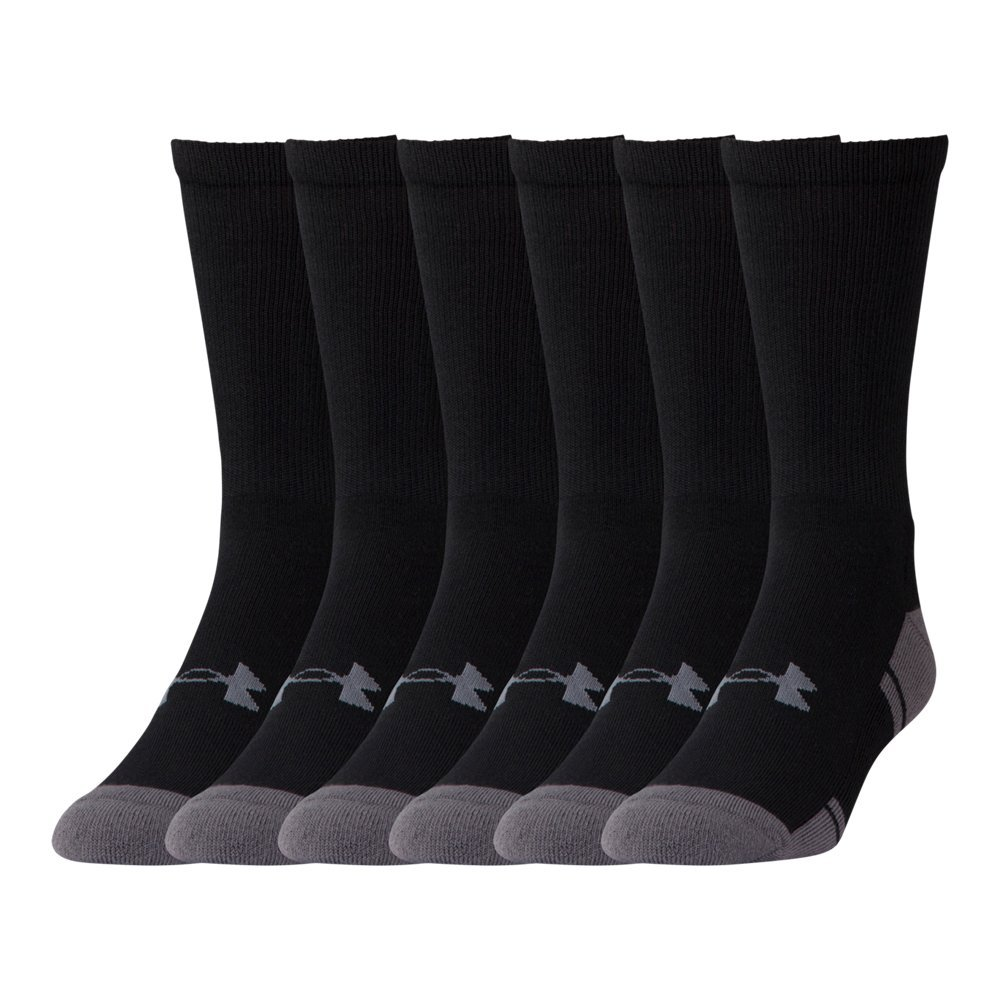 Under Armour UA Resistor III Crew Socks - 6-Pack XL Black by Under Armour